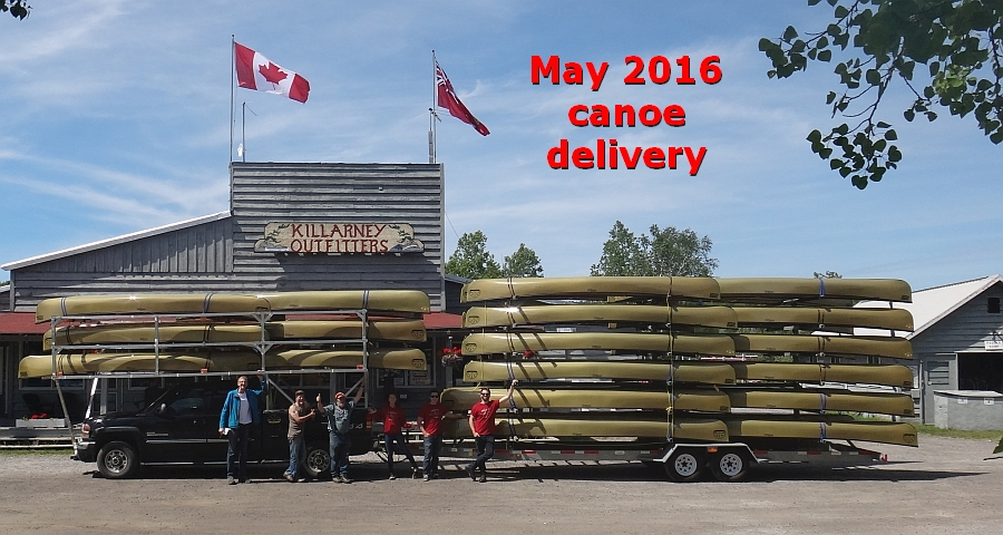 Killarney Outfitters Souris River canoes