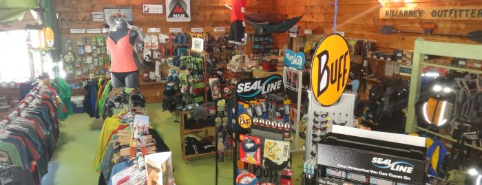 Gear Available at the Killarney Outfitters Store