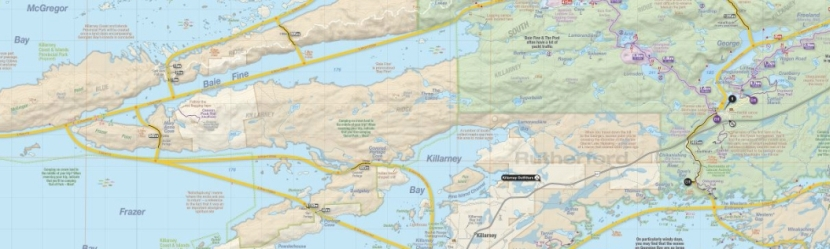 Killarney Outfitters Boat Shuttle Map - Click to Enlarge